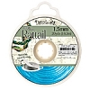 Rattail Cord 1.5mm 20 Yds With Re-useable Bobbin Aqua Blue